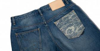 "Washed Denim Shorts ""Mahasamut Pattern"" (10th Anniversary)"