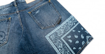 """Washed Denim Shorts """"Akha Native"""""""