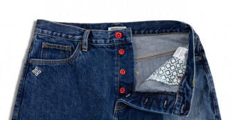 """Washed Jeans """"Indigo Block""""(Relaxed Fit)"""