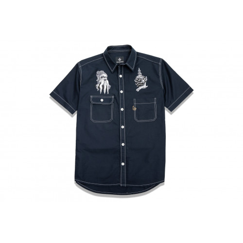 "Shorts Sleeve Work Shirts ""Spiritual Guardian"""