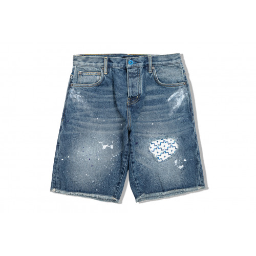 "Washed Denim Shorts ""Benjarong"""