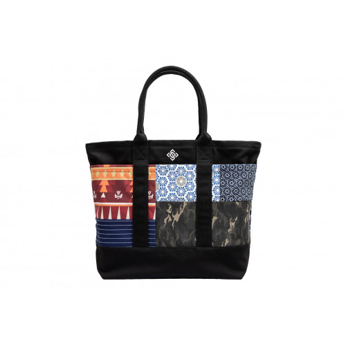 Multi-fabric Tote Bag