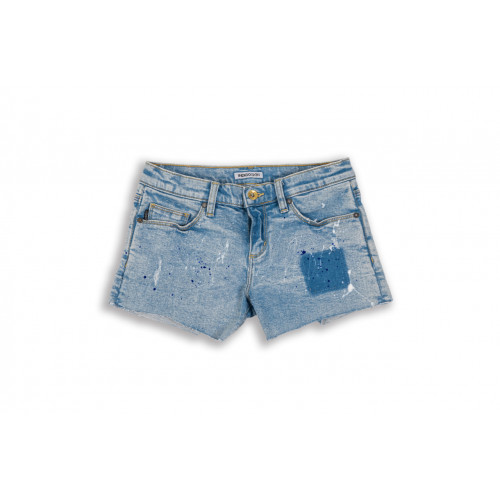 "Women Washed Denim Shorts ""Supernatural"""
